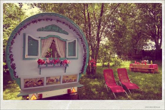 Gipsy caravan for a yoga retreat in Spain