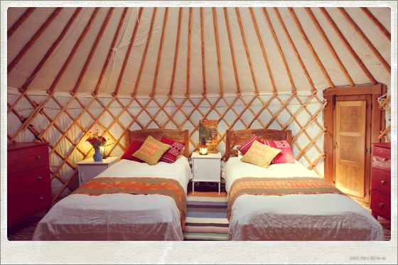 Yurt yoga retreat